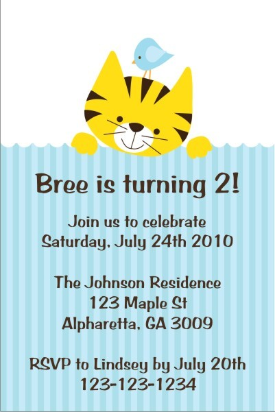 Kitty and Birdie Invitation