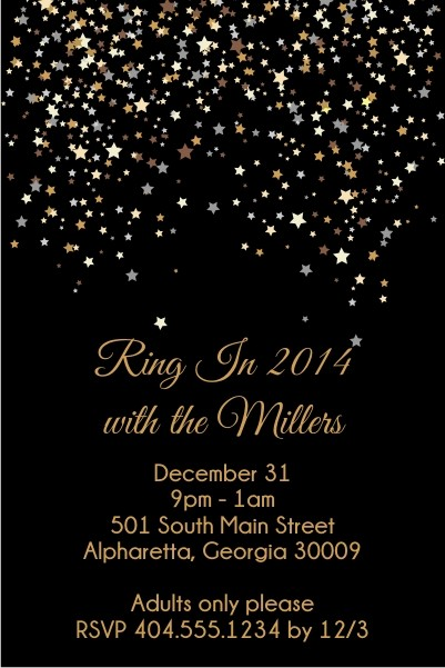 New Years Eve Confetti Invitation