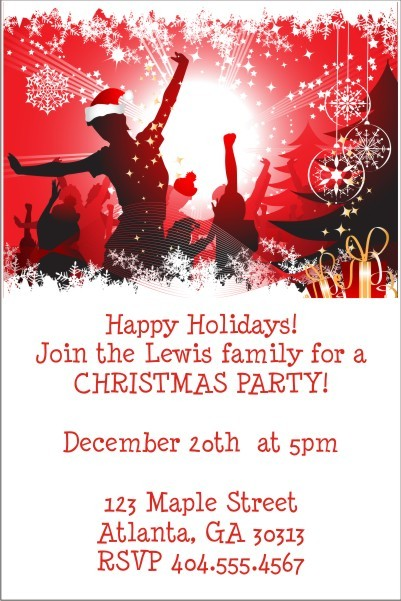 Christmas Celebration Holiday Party Invitation