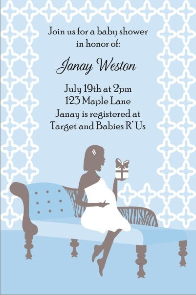 Sitting Pretty Baby Shower Invitation - Blue
