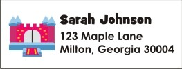 Bounce Castle Return Address Labels