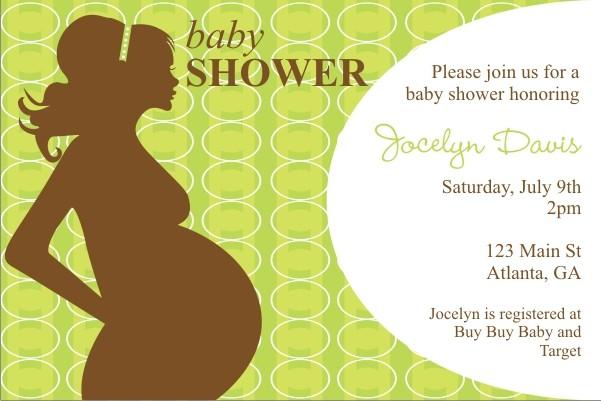 Mod Momma Baby Shower Invitation - Green