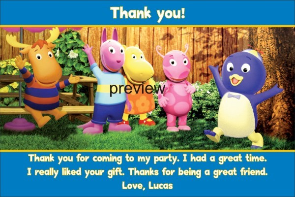 Backyardigans Thank You Cards