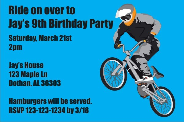 BMX Bike Invitation