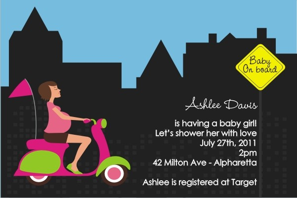 Baby On Board Baby Shower Invitation - Pink