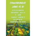 Teenage Mutant Ninja Turtles Invitation  - TMNT Turtle Power