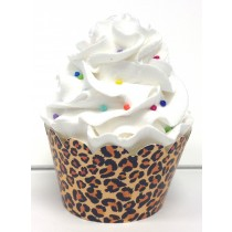 leopard print cupcake wrappers