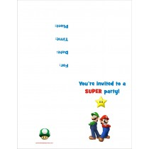 Super Mario Bros FREE Printable Birthday Party Invitation