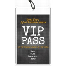 Vip pass invitations w lanyard party invites personalized party metal grid vip pass invitation with lanyard stopboris Image collections