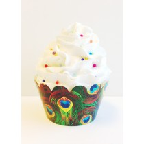 Peacock Feathers Cupcake Wrappers