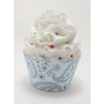 blue paisly cupcake wrappers