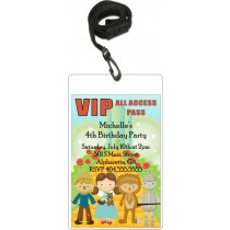 Wizard of Oz VIP Pass Invitation with Lanyard
