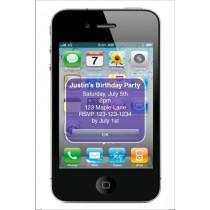 iPhone Alert Birthday Party Invitation