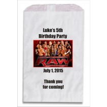 WWE Wrestling Personalized Party Favor Bags 10 count