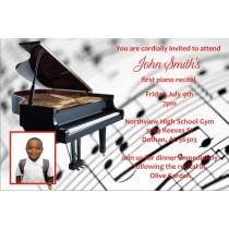 Piano Recital Invitation with Optional Photo
