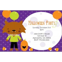 Kid Werewolf Halloween Party Invitation