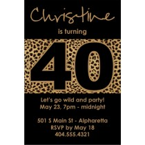 Leopard print party invitation