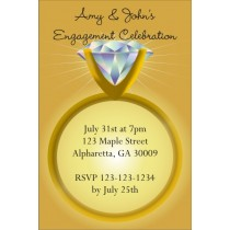 Diamond Ring Engagement Party or Bridal Shower Invitation