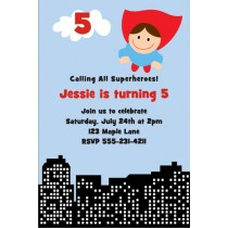 Superhero Birthday Invitation 3