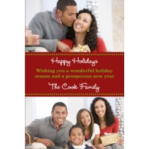 Holiday Bliss Christmas Holiday Photo Card - 2 Photos