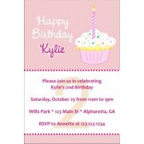 Happy Birthday Cupcake Invitations