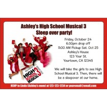 High School Musical 3 (Senior Year) Invitations