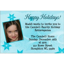Blue Frost Photo Party Invitation