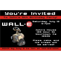 Wall-E Invitations