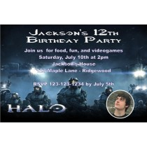 Halo Birthday Invitation