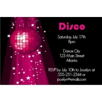 Disco Invitation 2 - Pink Disco Ball