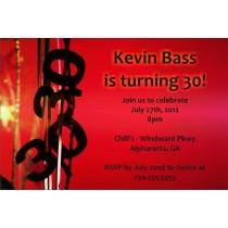 30 Thirty 30th Birthday Invitation