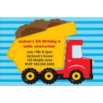 Dump Truck Construction Invitation