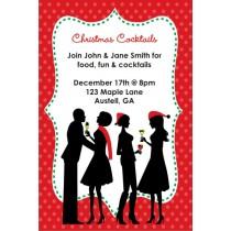 Cocktail Mingle Holiday Christmas Party Invitation