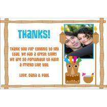 Luau Thank You Card