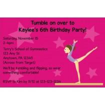 Gymnastics Invitation