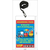 Train VIP Pass Birthday Party Invitation