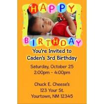 Happy Birthday Balloons Photo Invitation