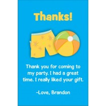 Boy Pool Party Thank You Cards