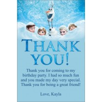 Frozen movie thank you card