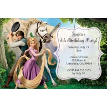 tangled birthday party invitation