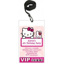 Hello Kitty VIP Pass Invitation with Lanyard