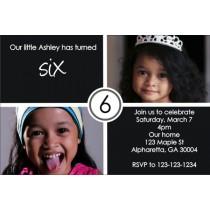 Photo Invitation 5 - black