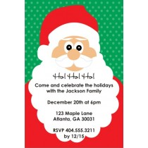 Ho Ho Ho Santa Holiday Christmas Party Invitation