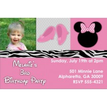 Pretty In Pink Photo Invitation (Similar to Minnie Mouse)