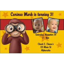 Curious George Photo Invitations