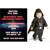 Star Wars inspired Feel the Force Photo Invitation