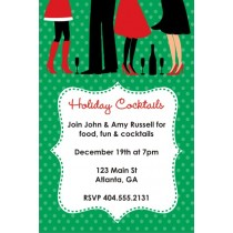 Holiday Cocktails Christmas Party Invitation