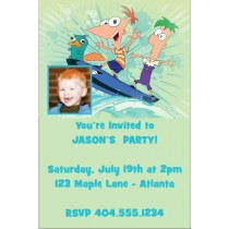 Phineas and Ferb Invitation with Optional Photo