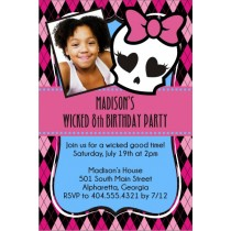Monster High Photo Invitation
