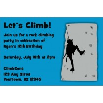 Rock Climbing Invitation - ALL COLORS